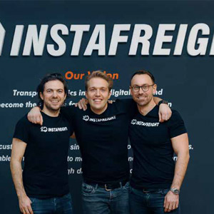 Markus J Doetsch, Co-Founder & CTO, Maximilian Schaefer, Co-Founder & Managing Director and Philipp Ortwein, Co-Founder & Managing Director, InstaFreight